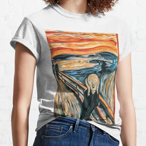 The Scream, Norwegian Expressionist Painting By Artist Edvard Munch In 1893, Expressionist Art, Inspired Recreation  Classic T-Shirt