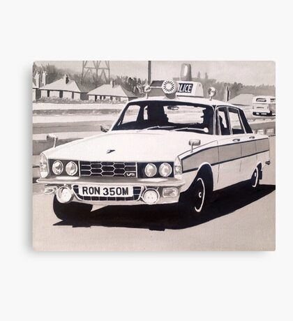 Rover P6 3500 V8 Police Car Canvas Print