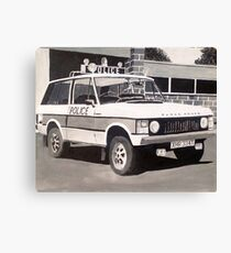 Range Rover Police Car Canvas Print