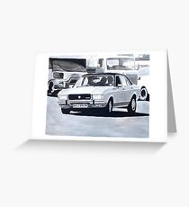 'The Sweeney' Ford Granada 3.0 Ghia Greeting Card