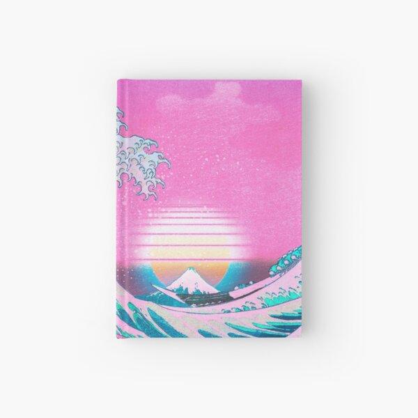 Vaporwave Aesthetic Great Wave Off Kanagawa Retro Sunset Carnet cartonné