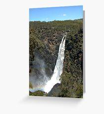 Dangars Falls in flood Greeting Card