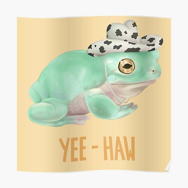 Cowboy Frog Poster