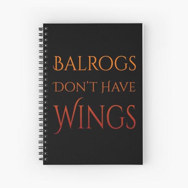 Definitely No Wings Spiral Notebook