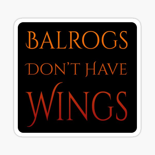 Definitely No Wings Sticker