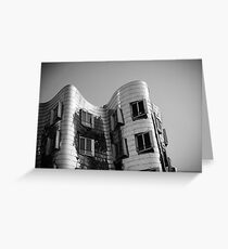 Gehry, Black & White Greeting Card