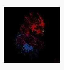 Paint Splatter Street Fighter: Akuma Photographic Print