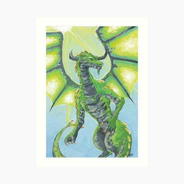 Taurus Dragon Art Print