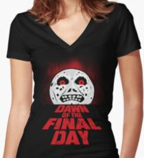 Dawn of the Final Day Women's Fitted V-Neck T-Shirt