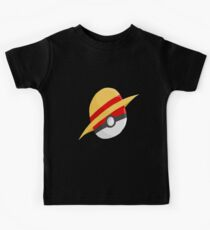 Pokeball and Luffy's hat Kids Tee