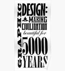Graphic Design Broadside Poster