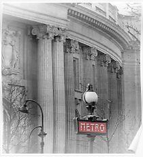 Paris Metro Grand Palais Poster