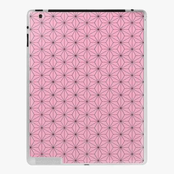 Nezuko's Kimono Pattern: Traditional Japanese Pink Asanoha Pattern, Demon Slayer iPad Skin