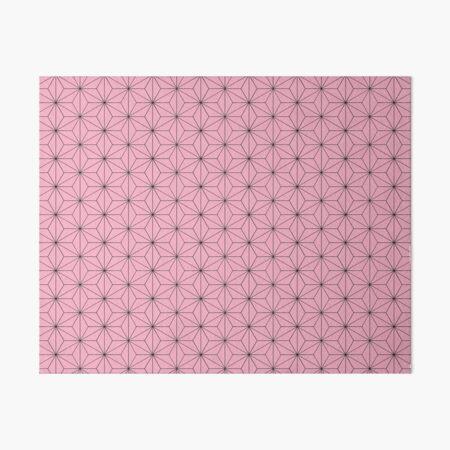Nezuko's Kimono Pattern: Traditional Japanese Pink Asanoha Pattern, Demon Slayer Art Board Print