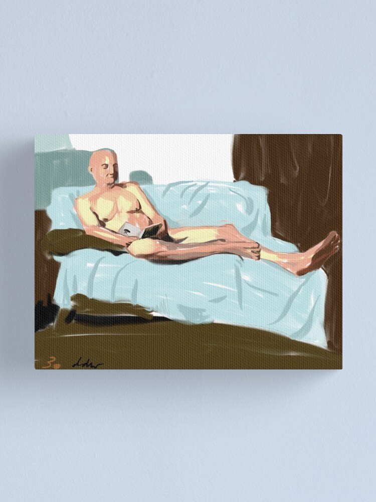 Alternate view of Reading figure Canvas Print