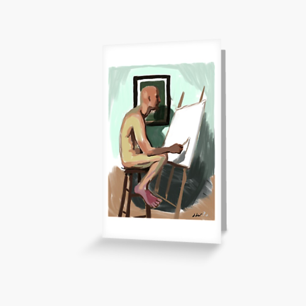 Figure painting figure painting  Greeting Card