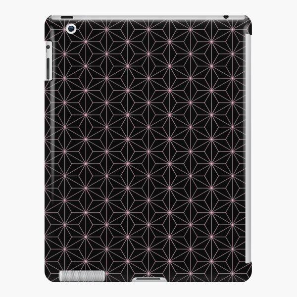 Traditional Japanese Asanoha Kimono pattern, Black And Pink Geometric Pattern, Japanese Haori Pattern iPad Snap Case