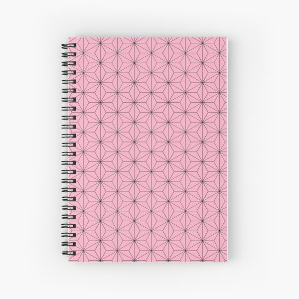 Nezuko's Kimono Pattern: Traditional Japanese Pink Asanoha Pattern, Demon Slayer Spiral Notebook