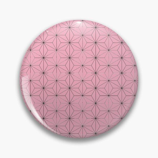 Nezuko's Kimono Pattern: Traditional Japanese Pink Asanoha Pattern, Demon Slayer Pin