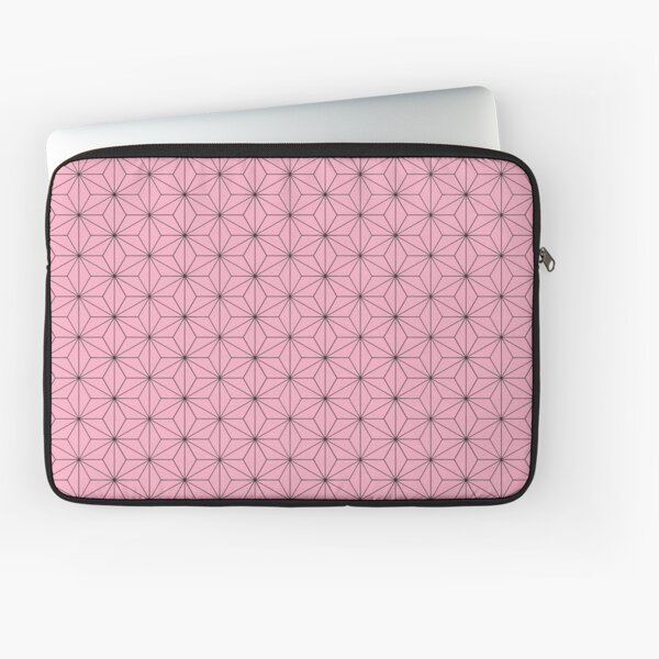 Nezuko's Kimono Pattern: Traditional Japanese Pink Asanoha Pattern, Demon Slayer Laptop Sleeve