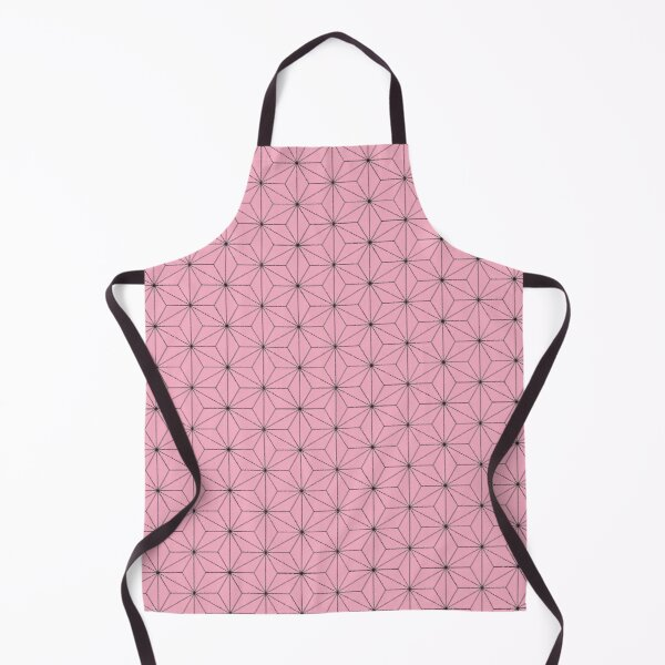 Nezuko's Kimono Pattern: Traditional Japanese Pink Asanoha Pattern, Demon Slayer Apron