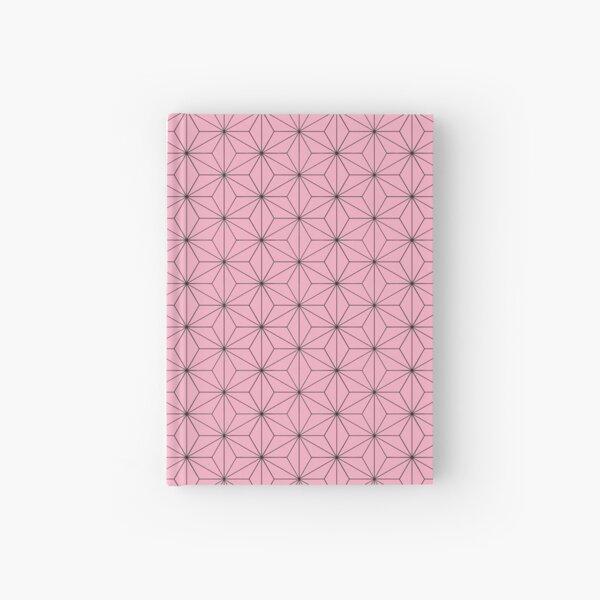 Nezuko's Kimono Pattern: Traditional Japanese Pink Asanoha Pattern, Demon Slayer Hardcover Journal