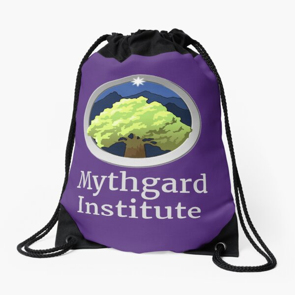 Mythgard Institute Logo Drawstring Bag