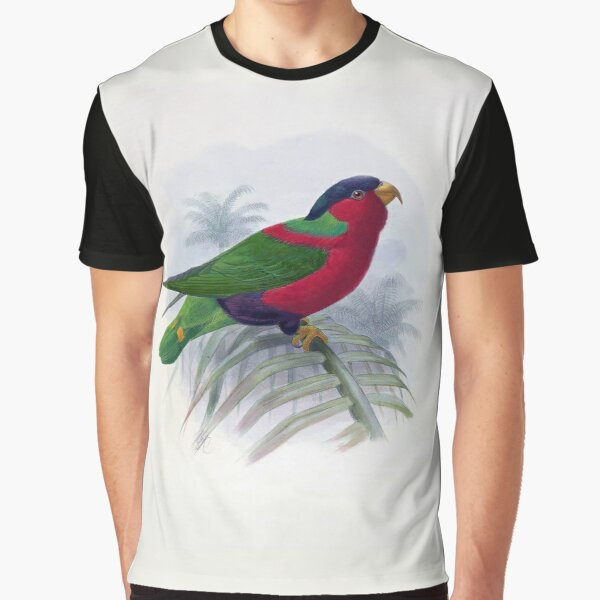 Lorius Solitarius -1876 Illustration of Lorie from Ornithological Miscellany Vol. 2 Graphic T-Shirt