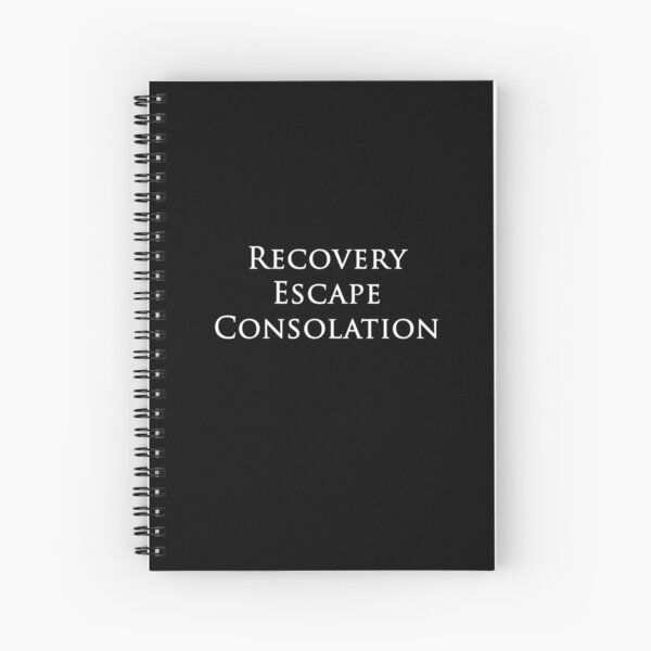 Recovery Escape Consolation Spiral Notebook