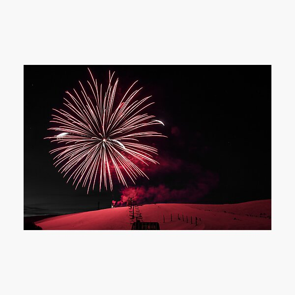 Summit fireworks Photographic Print