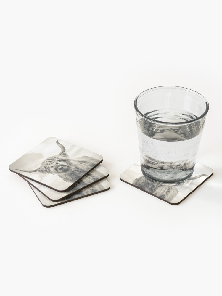 Alternate view of Cheeky Highland Cow  Coasters (Set of 4)
