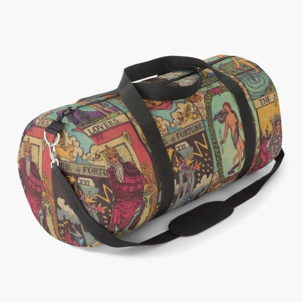 The Major Arcana of Tarot Vintage Patchwork Duffle Bag
