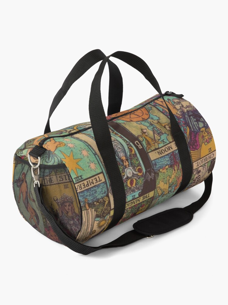 Alternate view of The Major Arcana of Tarot Vintage Patchwork Duffle Bag