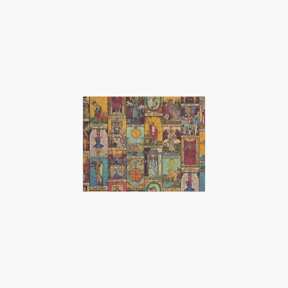 The Major Arcana of Tarot Vintage Patchwork Jigsaw Puzzle