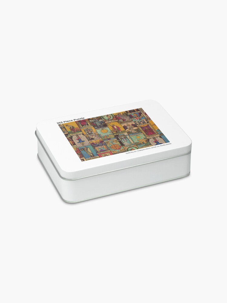 Alternate view of The Major Arcana of Tarot Vintage Patchwork Jigsaw Puzzle
