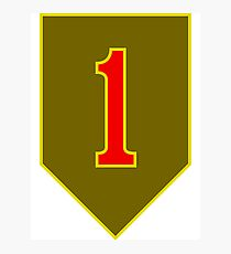 1st Infantry Division, US Army Photographic Print