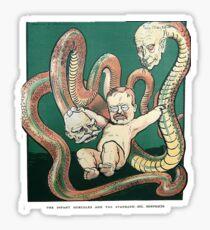 Teddy Roosevelt is Hercules Sticker