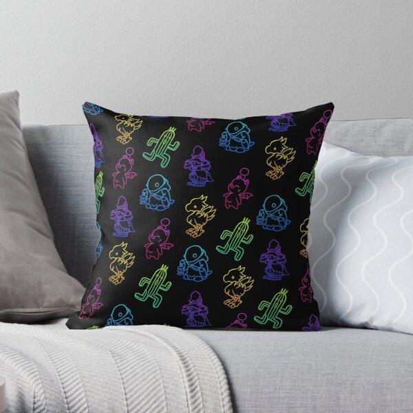 Final Fantasy Outlines Throw Pillow