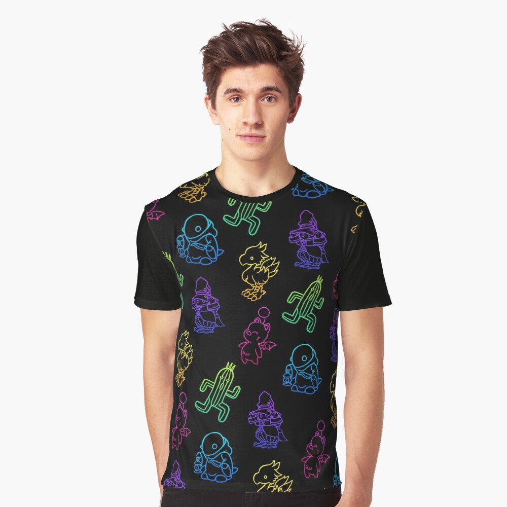Final Fantasy Outlines Graphic T-Shirt