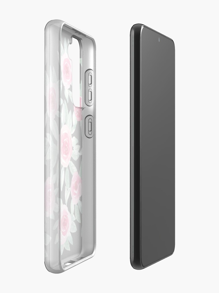 Alternate view of Watercolour Roses in black Case & Skin for Samsung Galaxy