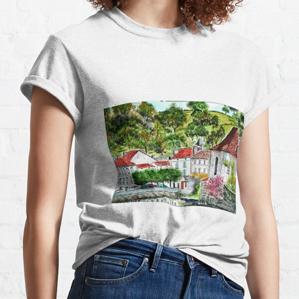 Brantome , Perigord Vert France ( Watercolour ) Classic T-Shirt