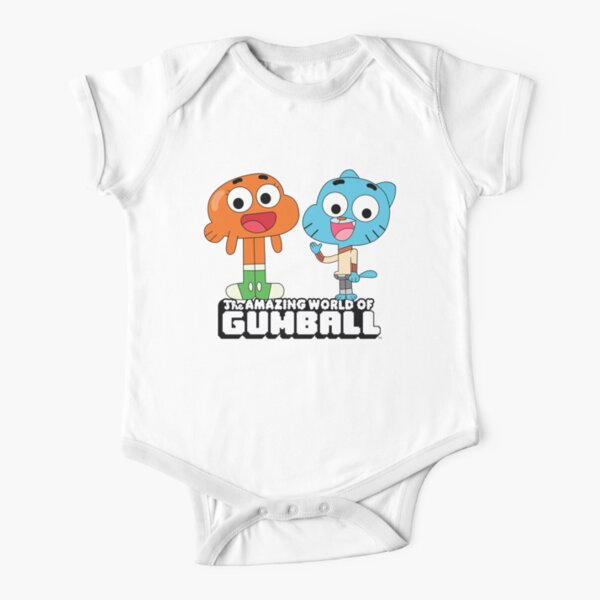 Gumball and Darwin Greet the fans Short Sleeve Baby One-Piece