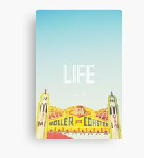 Life is a Roller Coaster Canvas Print