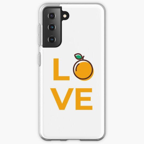 Love Orange Fruit Samsung Galaxy Soft Case