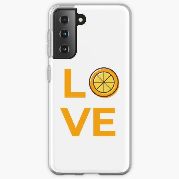 Love Orange Fruit Slice Samsung Galaxy Soft Case