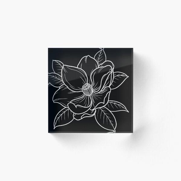 Magniolia - white lines Acrylic Block