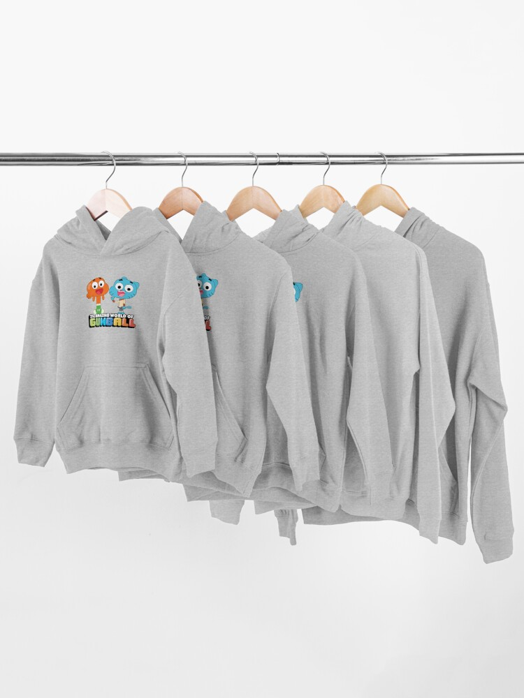 Alternate view of Gumball and Darwin Greet the fans Kids Pullover Hoodie