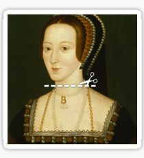 Cut Here - Anne Boleyn Sticker