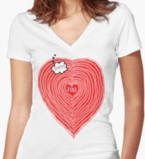 The State of LOVE Women's Fitted V-Neck T-Shirt