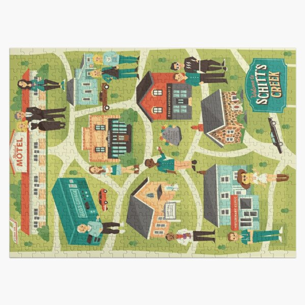 Town map Jigsaw Puzzle